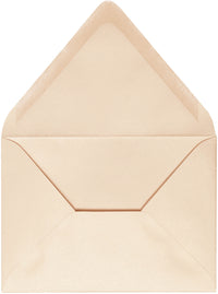 "A-1 (4 Bar) Peach (Coral) Metallic Euro Flap Envelopes (3 5/8"" x 5 1/8"") - Paperandmore.com"