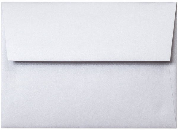 A-7 Pearl White Metallic Envelopes (5 1/4