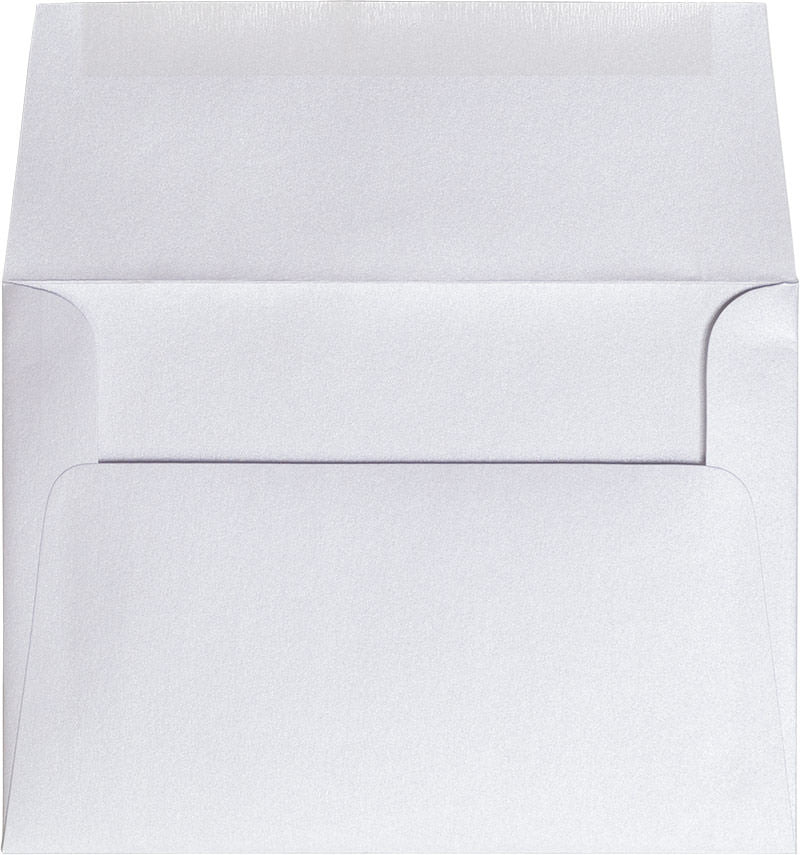 "A-7 Pearl White Metallic Envelopes (5 1/4"" x 7 1/4"")"