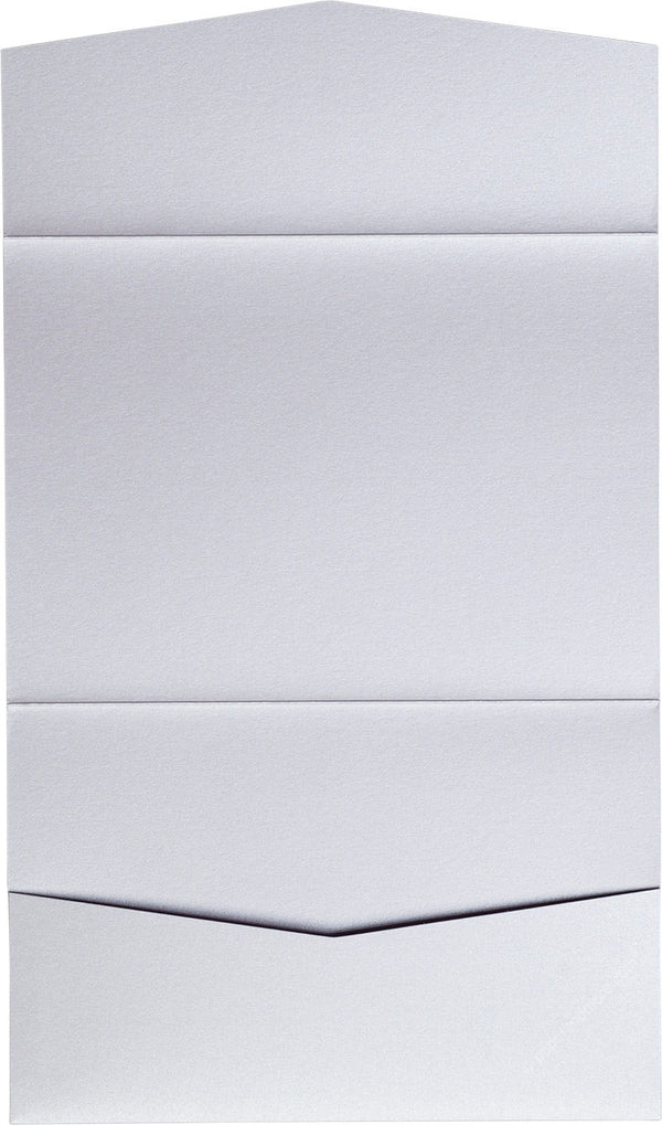 Pearl White Metallic Pocket Invitation Card, A7 Atlas - Paperandmore.com