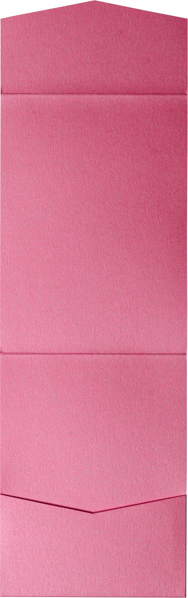 Pink Azalea Metallic Pocket Invitation Card, A7 Cascade