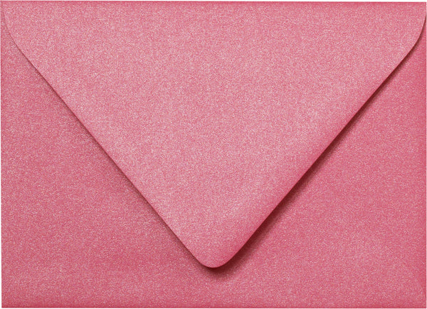 "Outer A-7.5 Pink Azalea Metallic Euro Flap Envelopes (5 1/2"" x 7 1/2"") - Paperandmore.com"