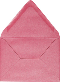 "A-7 Pink Azalea Metallic Euro Flap Envelopes (5 1/4"" x 7 1/4"")"