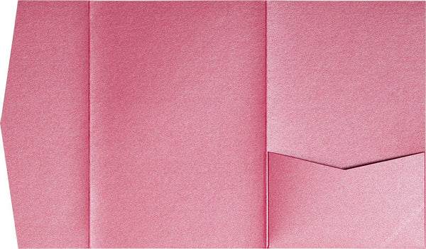 Pink Azalea Metallic Pocket Invitation Card, A7 Himalaya - Paperandmore.com