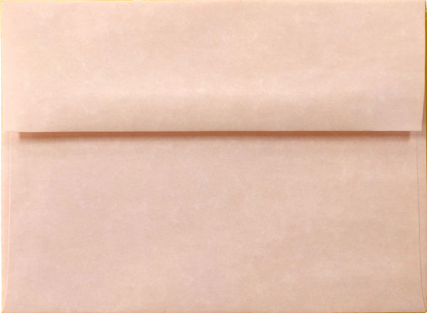 A-7 Pink Parchment Envelopes (5 1/4