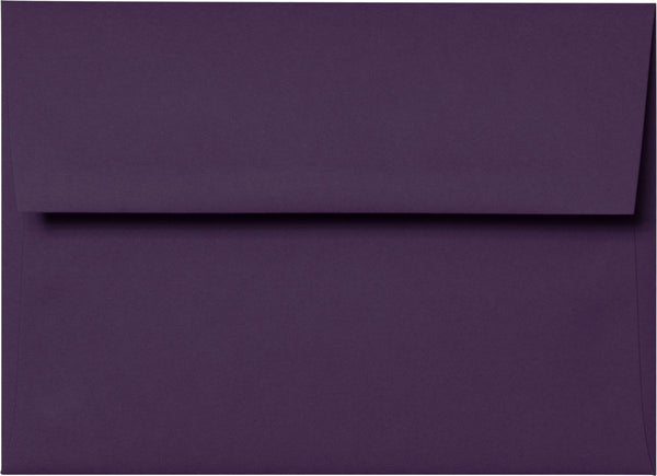 "A-7 Purple Eggplant Solid Envelopes (5 1/4"" x 7 1/4"") - Paperandmore.com"