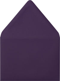 "A-1 (4 Bar) Purple Eggplant Solid Euro Flap Envelopes (3 5/8"" x 5 1/8"") - Paperandmore.com"