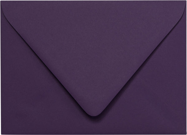 "Outer A-7.5 Purple Eggplant Solid Euro Flap Envelopes (5 1/2"" x 7 1/2"") - Paperandmore.com"