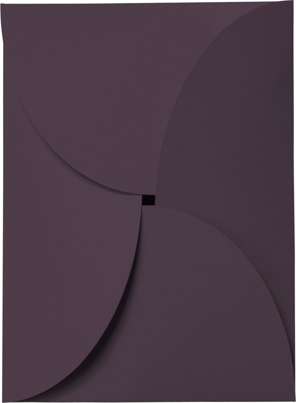 Purple Eggplant Solid Petal Card 100 lb, 5 1/8