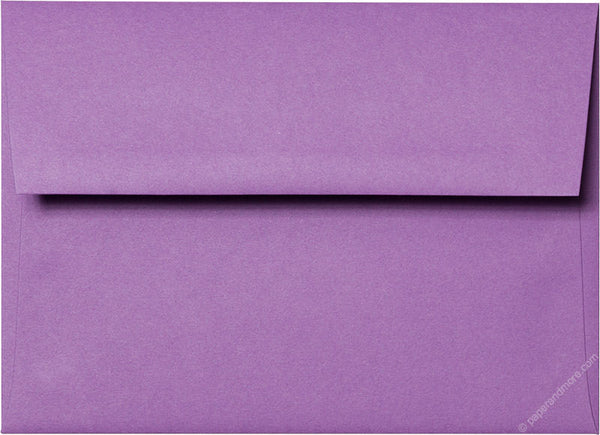 "A-7 Purple Grape Solid Envelopes (5 1/4"" x 7 1/4"") - Paperandmore.com"