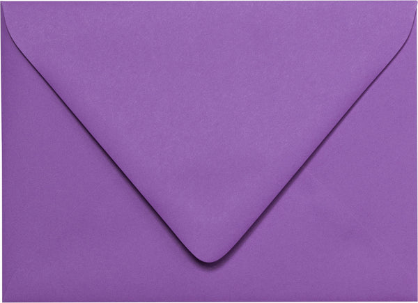 "A-7 Purple Grape Solid Euro Flap Envelopes (5 1/4"" x 7 1/4"") - Paperandmore.com"