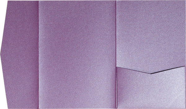 Purple Punch Metallic Pocket Invitation Card, A7 Himalaya - Paperandmore.com