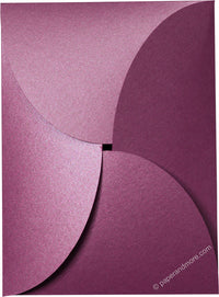 "Purple Punch Metallic Petal Cards 105#, 5 1/8"" x 7"" - Paperandmore.com"