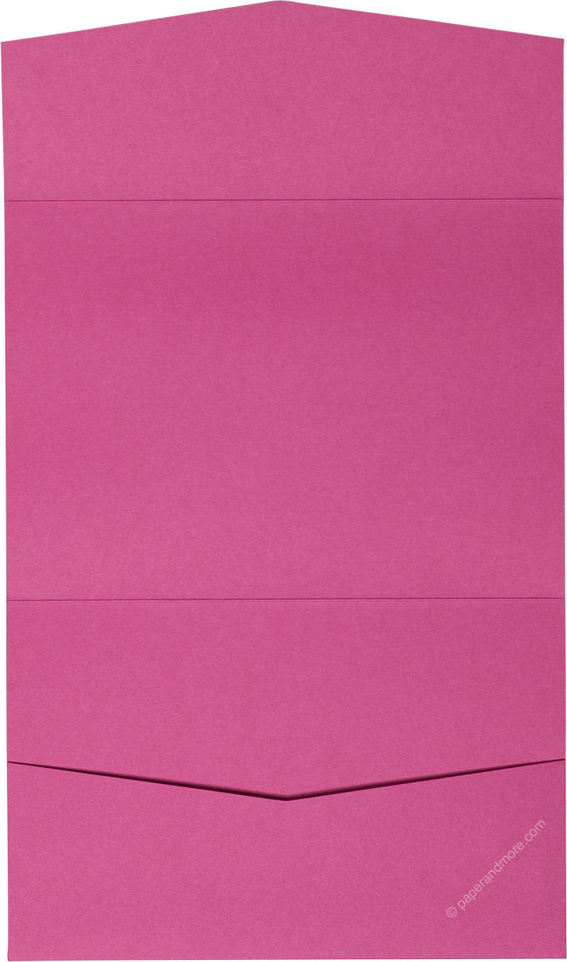 Razzle Pink Solid Pocket Invitation Card, A7 Atlas