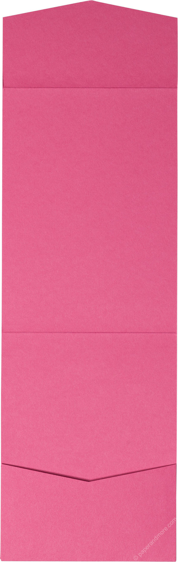 Razzle Pink Solid Pocket Invitation Card, A7 Cascade - Paperandmore.com