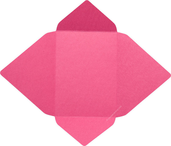 Razzle Pink Solid - A-7 Euro Flap Card Enclosure