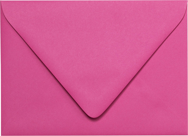 "Outer A-7.5 Solid Razzle Pink Euro Flap Envelopes (5 1/2"" x 7 1/2"") - Paperandmore.com"