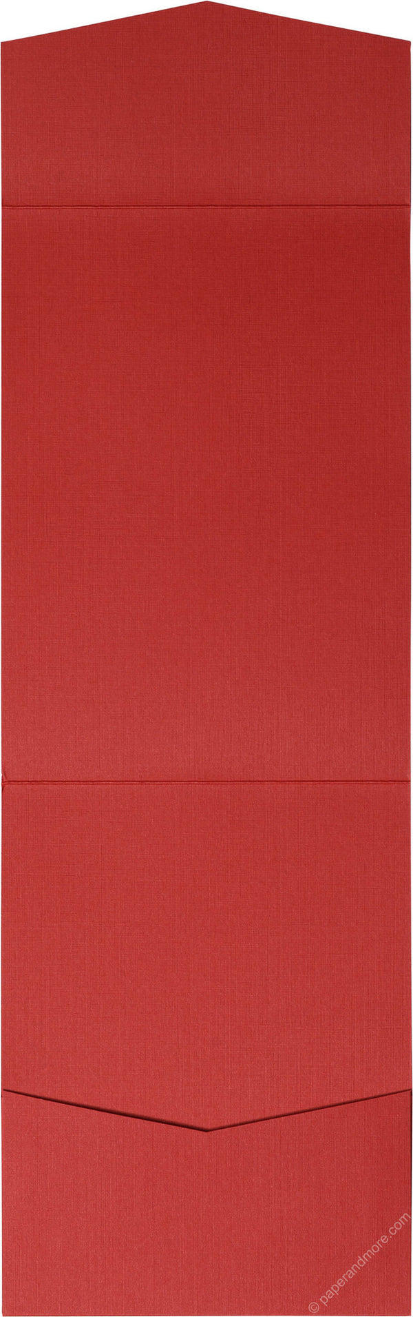 Red Pepper Linen Pocket Invitation Card, A7 Cascade - Paperandmore.com