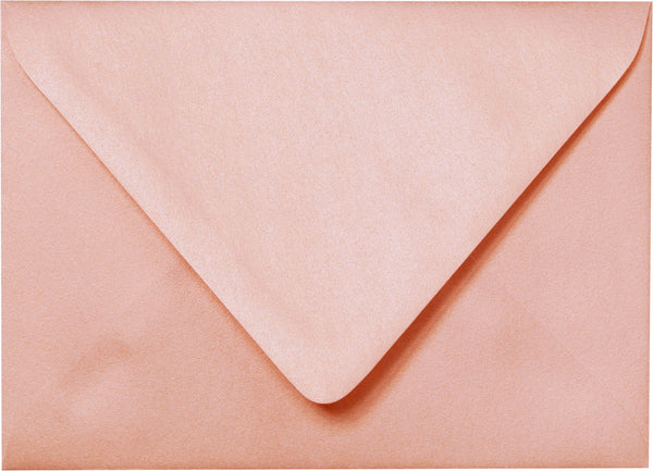 A-7 Rose Gold Metallic Euro Flap Envelopes (5 1/4