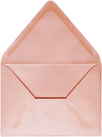 "Outer A-7.5 Rose Gold Metallic Euro Flap Envelopes (5 1/2"" x 7 1/2"")"