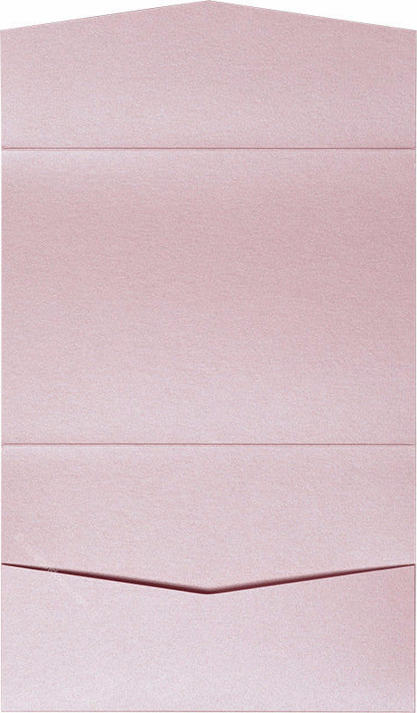Rose Pink Metallic Pocket Invitation Card, A7 Atlas - Paperandmore.com