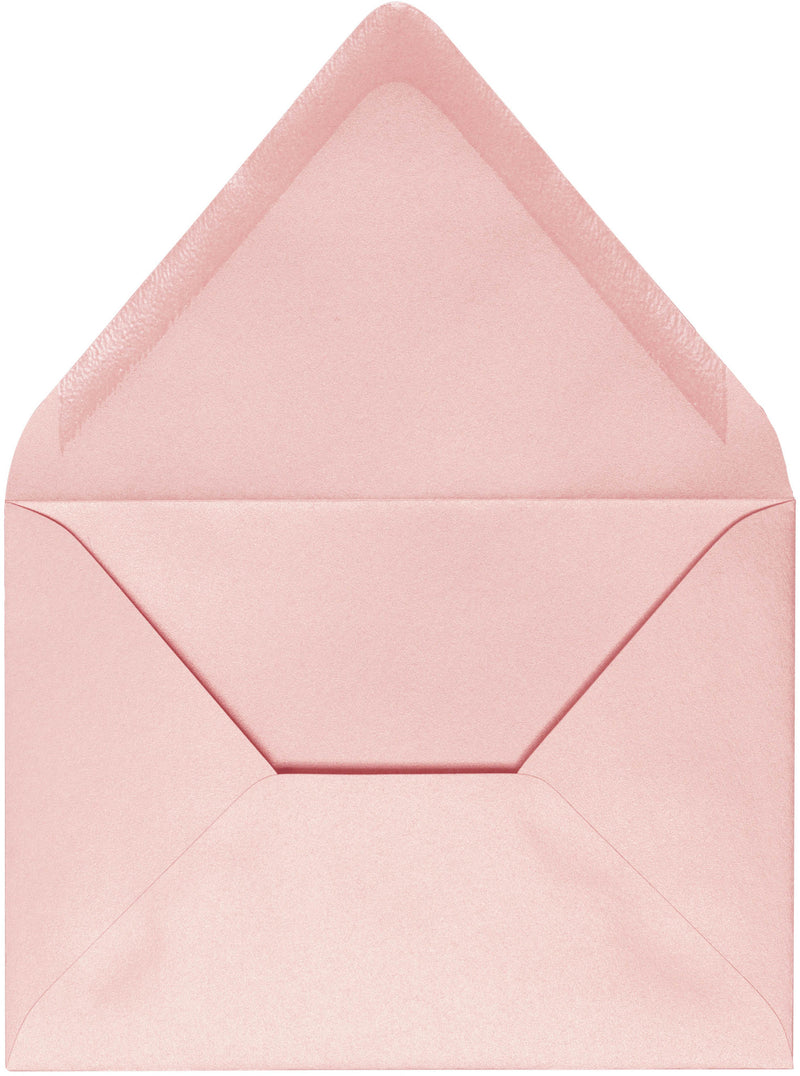 "A-1 (RSVP) Rose Pink Metallic Euro Flap Envelopes (3 5/8"" x 5 1/8"") - Paperandmore.com"