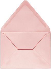 "A-2 Rose Pink Metallic Euro Flap Envelopes (4 3/8"" x 5 3/4"")"