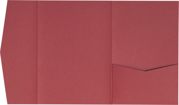 Rosebud Pink Solid Pocket Invitation Card, A-7.5 Himalaya