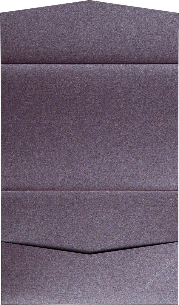 Ruby Purple Metallic Pocket Invitation Card, A7 Atlas - Paperandmore.com