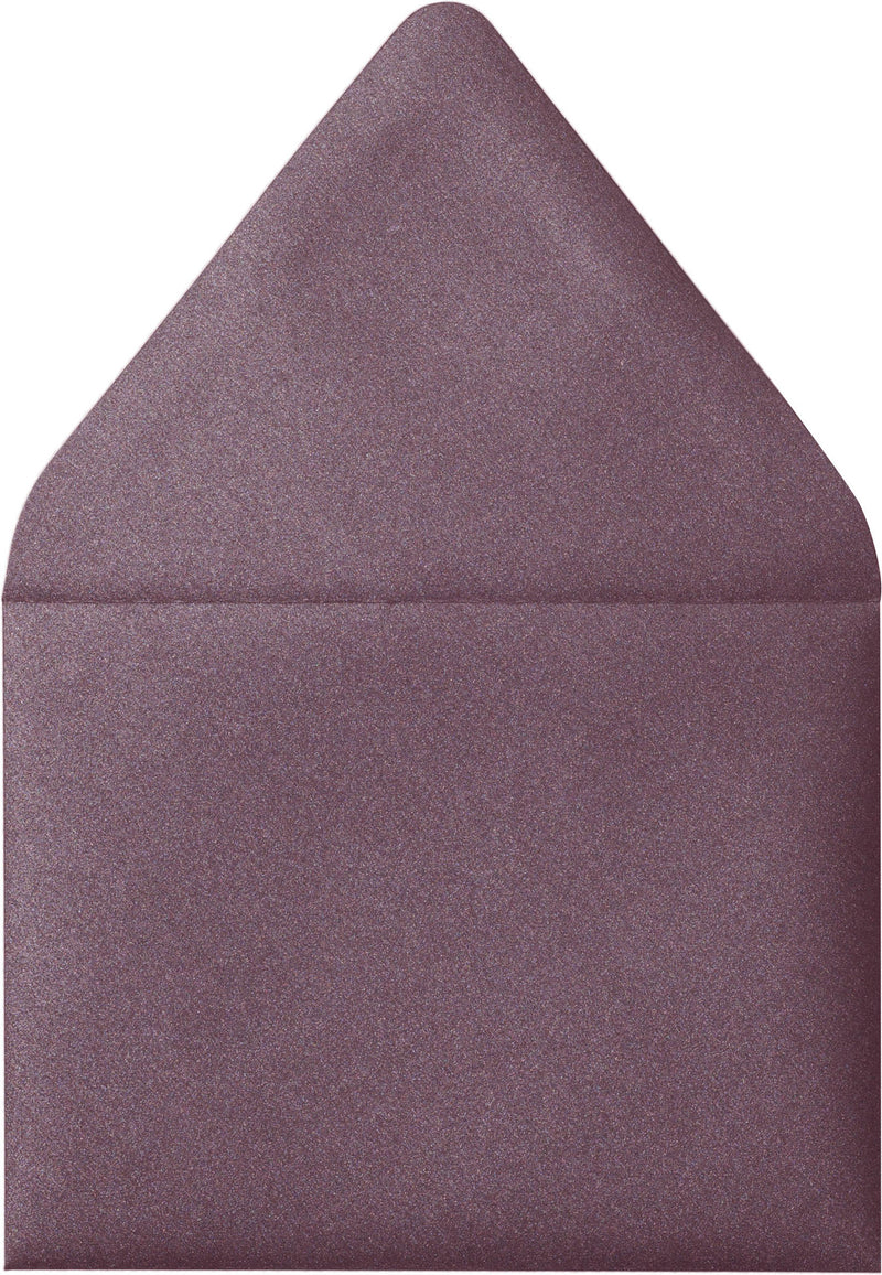 "A-2 Ruby Purple Metallic Euro Flap Envelopes (4 3/8"" x 5 3/4"") - Paperandmore.com"