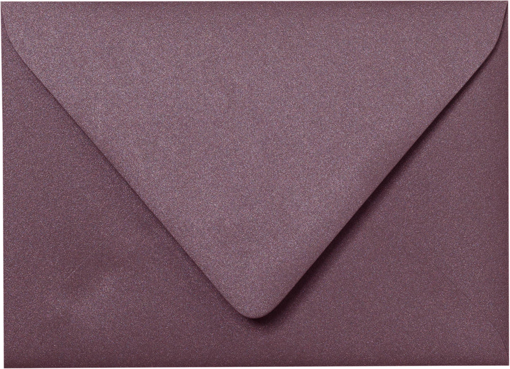 "Outer A-7.5 Ruby Purple Metallic Euro Flap Envelopes (5 1/2"" x 7 1/2"")"