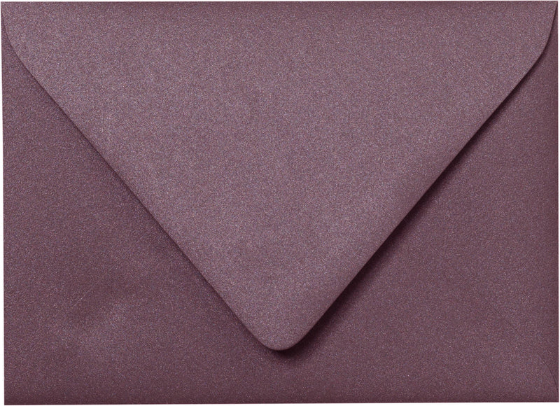 "Outer A-7.5 Ruby Purple Metallic Euro Flap Envelopes (5 1/2"" x 7 1/2"") - Paperandmore.com"