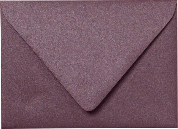 "A-7 Ruby Purple Metallic Euro Flap Envelopes (5 1/4"" x 7 1/4"") - Paperandmore.com"