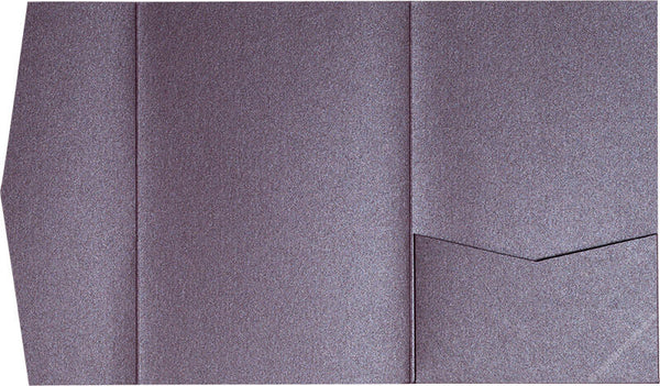 Ruby Purple Metallic Pocket Invitation Card, A-7.5 Himalaya - Paperandmore.com