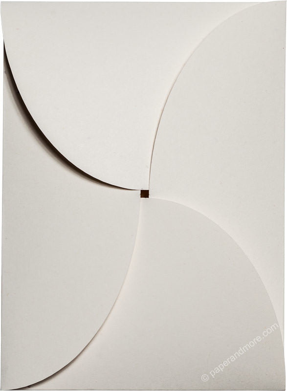 "White Fiber Recycled 80# Petal Card Enclosure, 5 1/8"" x 7"" - Paperandmore.com"