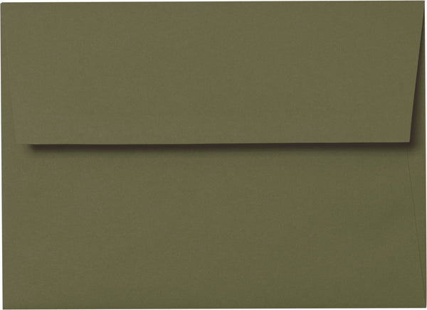 A-7 Sequoia Green Solid Envelopes (5 1/4