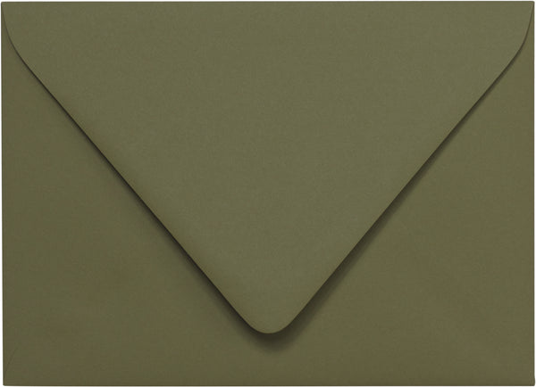 A-1 (RSVP) Sequoia Green Solid Euro Flap Envelopes (3 5/8