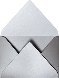 Silver Metallic - A-7 Euro Flap Card Enclosure
