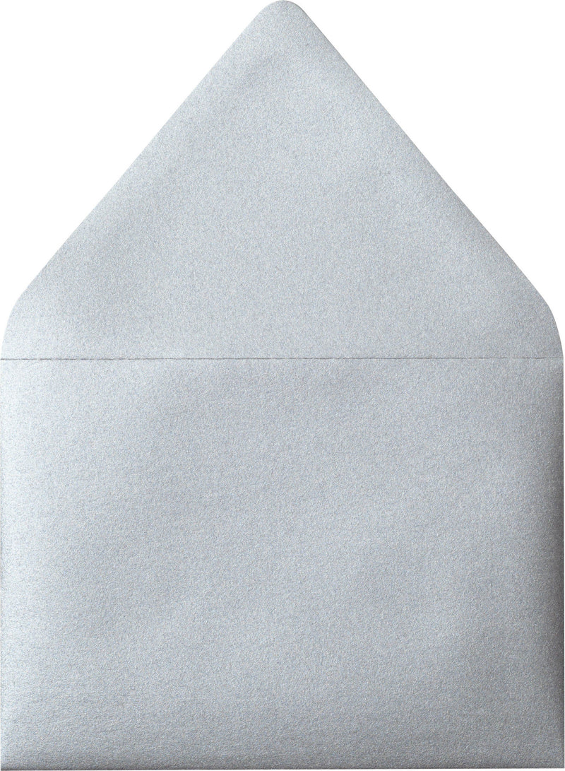 "A-7 Silver Metallic Euro Flap Envelopes (5 1/4"" x 7 1/4"") - Paperandmore.com"