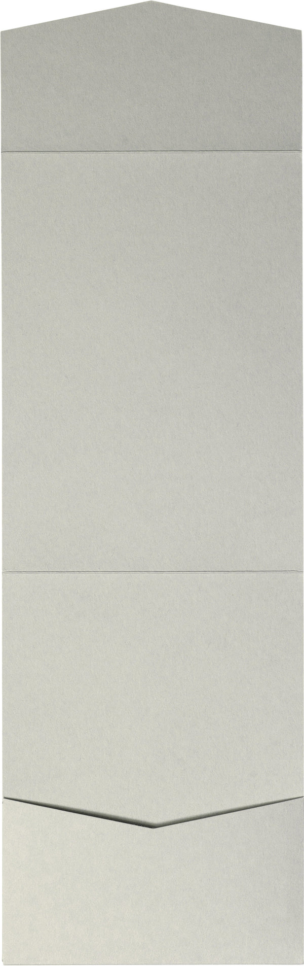 Gray Smoke Solid Pocket Invitation Card, A7 Cascade