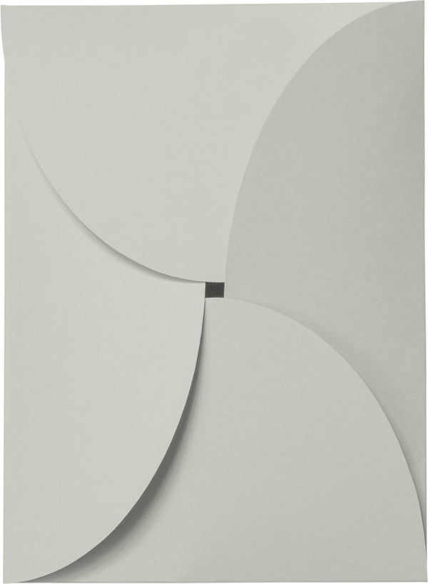 Gray Smoke Solid Petal Card 100 lb, 5 1/8