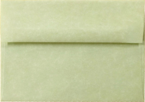 A-2 Spring Green Parchment Envelopes (4 3/8