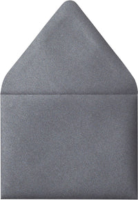 "A-7 Steel Gray Metallic Euro Flap Envelopes (5 1/4"" x 7 1/4"") - Paperandmore.com"