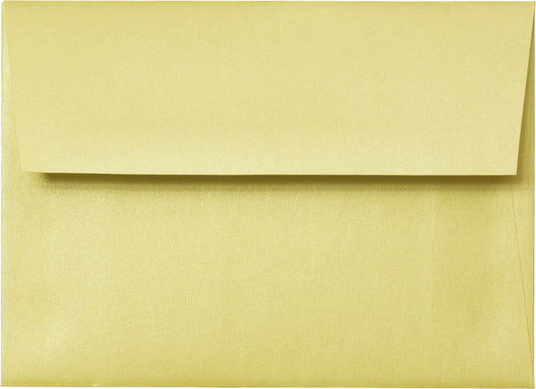 A-1 (RSVP) Sunrise Yellow Metallic Envelopes (3 5/8