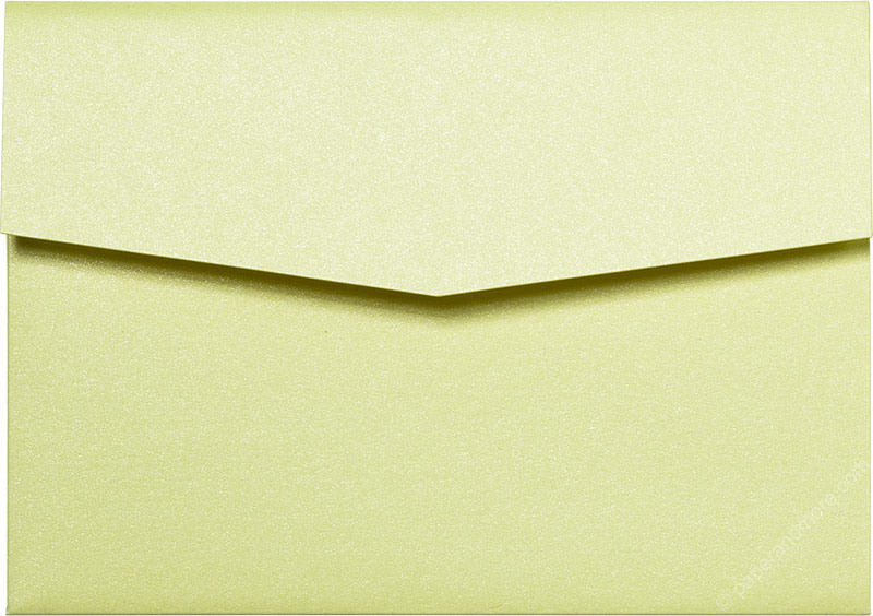 Sunrise Yellow Metallic Pocket Invitation Card, A7 Himalaya