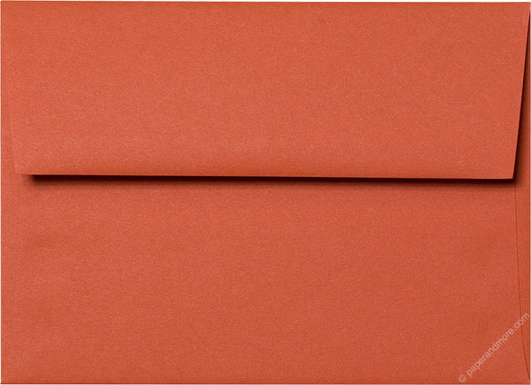 A-7 Sunset Orange Solid Envelopes (5 1/4