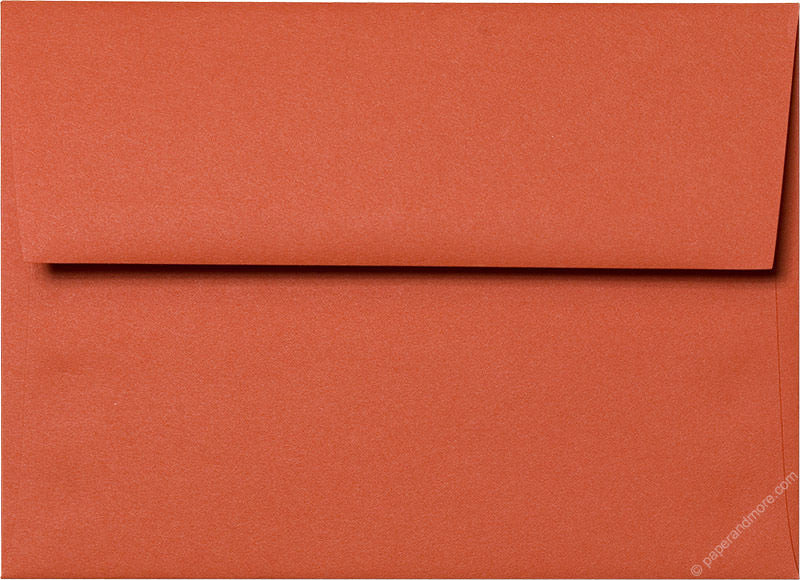 "A-7 Sunset Orange Solid Envelopes (5 1/4"" x 7 1/4"") - Paperandmore.com"
