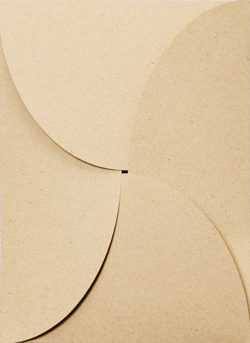 "Taupe Brown Recycled 80# Petal Card Enclosure, 5 1/8"" x 7"" - Paperandmore.com"