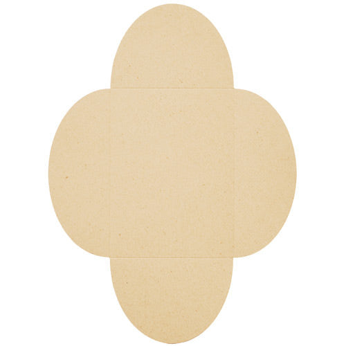 "Taupe Brown Recycled 80# Petal Card Enclosure, 5 1/8"" x 7"""