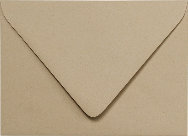 "A-7 Taupe Brown Fiber Recycled Euro Flap Envelopes (5 1/4"" x 7 1/4"") - Paperandmore.com"